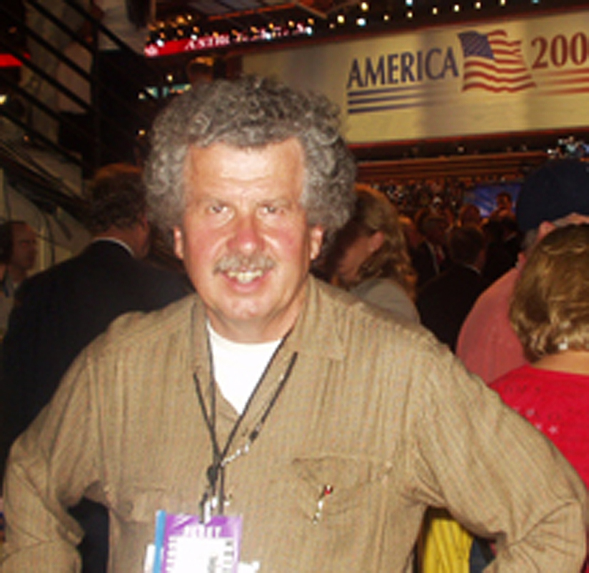 Jim Tarbell on Floor of the DNC 2004